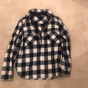 J. Crew zip pullover flannel